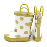Rainboots in Gold Dots - Poetic Kids - 1
