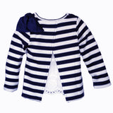 Lace-Back Long Sleeve in Navy - Poetic Kids - 1
