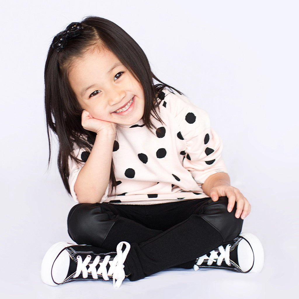 Oversized Polka Dot Sweater - Poetic Kids - 2