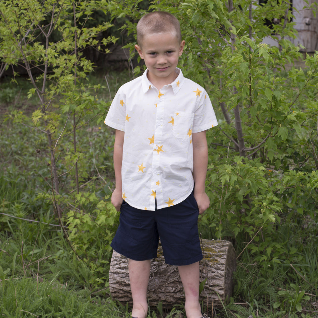 Star Short-Sleeve Button Down - Poetic Kids - 2