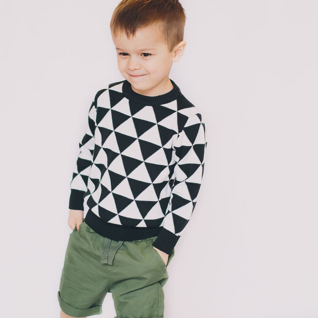 Graphic Knit Sweater - Poetic Kids - 2