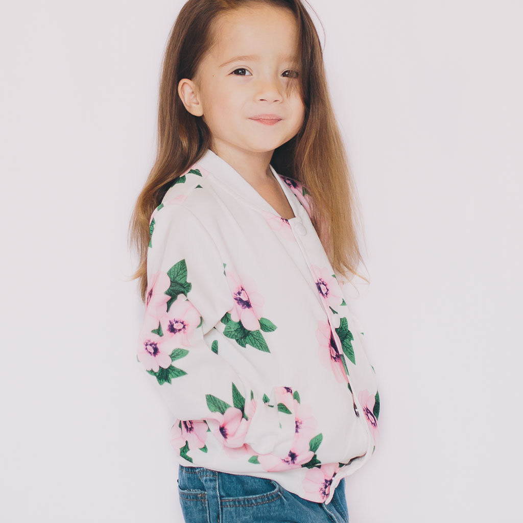 Floral Jacket in White - Poetic Kids - 3