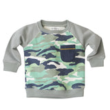 Camo Sweatshirt in Grey - Poetic Kids - 1
