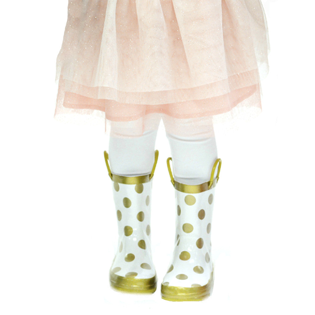 Rainboots in Gold Dots - Poetic Kids - 2