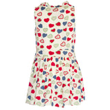 Hearts Patterned Dress - Poetic Kids - 3