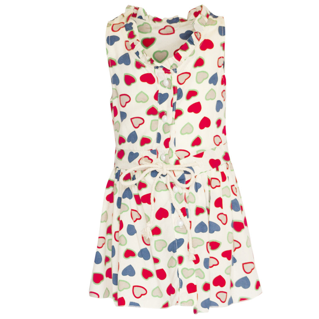 Hearts Patterned Dress - Poetic Kids - 1