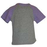 Raglan Tee in Purple & Grey - Poetic Kids - 3