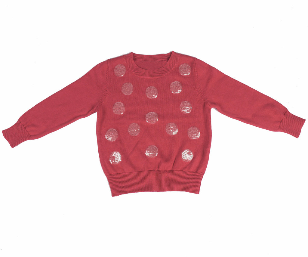 Sequin Polka Dot Sweater
