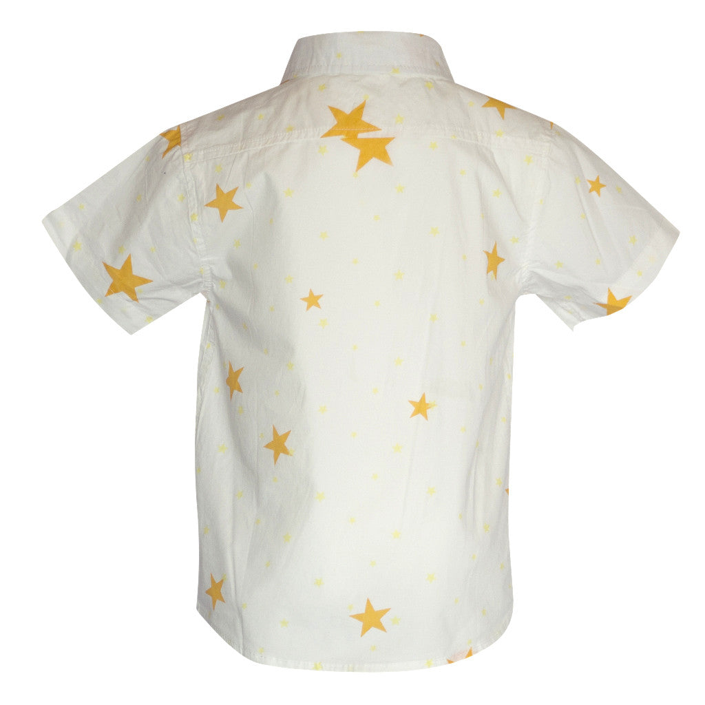 Star Short-Sleeve Button Down - Poetic Kids - 4