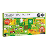 Follow & Spot Puzzle - At the Farm