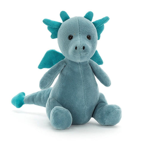 JellyCat Little Puff Dragon Plush Animal - Sapphire