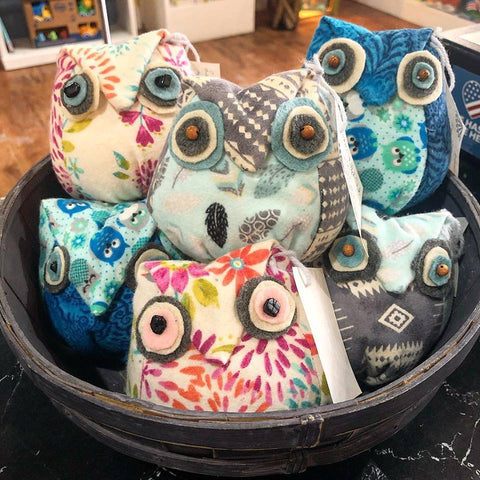 Lavender Stuffed Owls