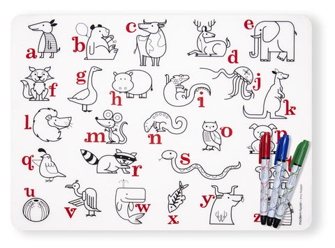 modern-twist Mark Mat w/ Markers - Alphabet Animals