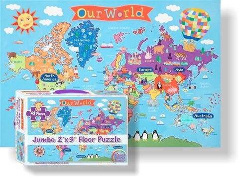Our World Jumbo 48-Piece Floor Puzzle