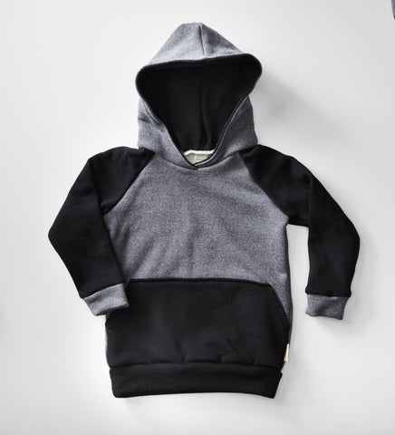 Treetops Collective French Terry Hey! Hey! Hoodie - Grey/Black