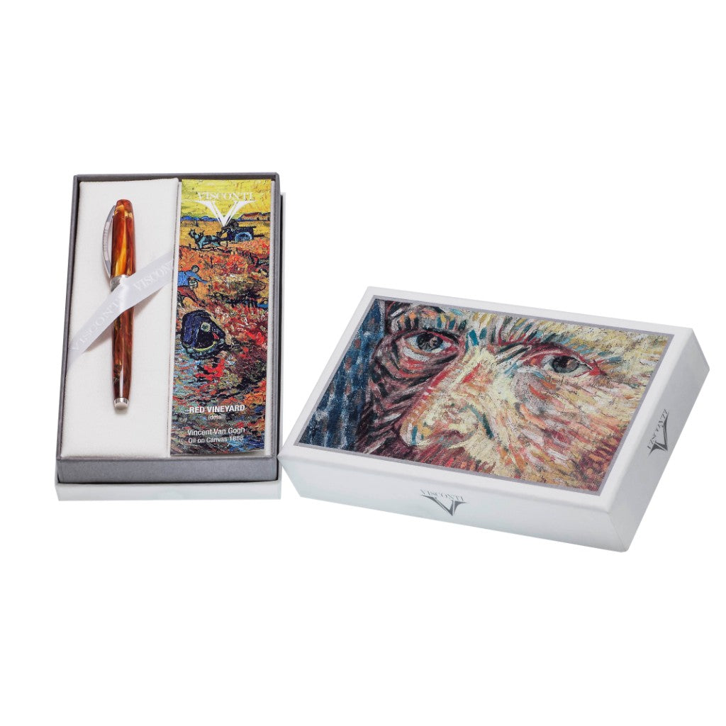 "Visconti Van Gogh ""The Impressionist Collection"" Red Vineyard Fountain Pen - Medium"