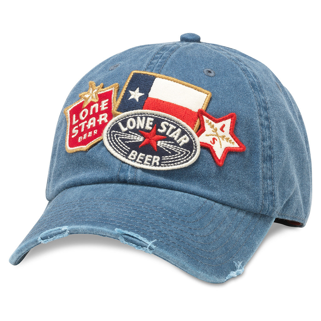 American Needle Iconic Lone Star Baseball Dad Hat (PBC-1907B-NAVY)
