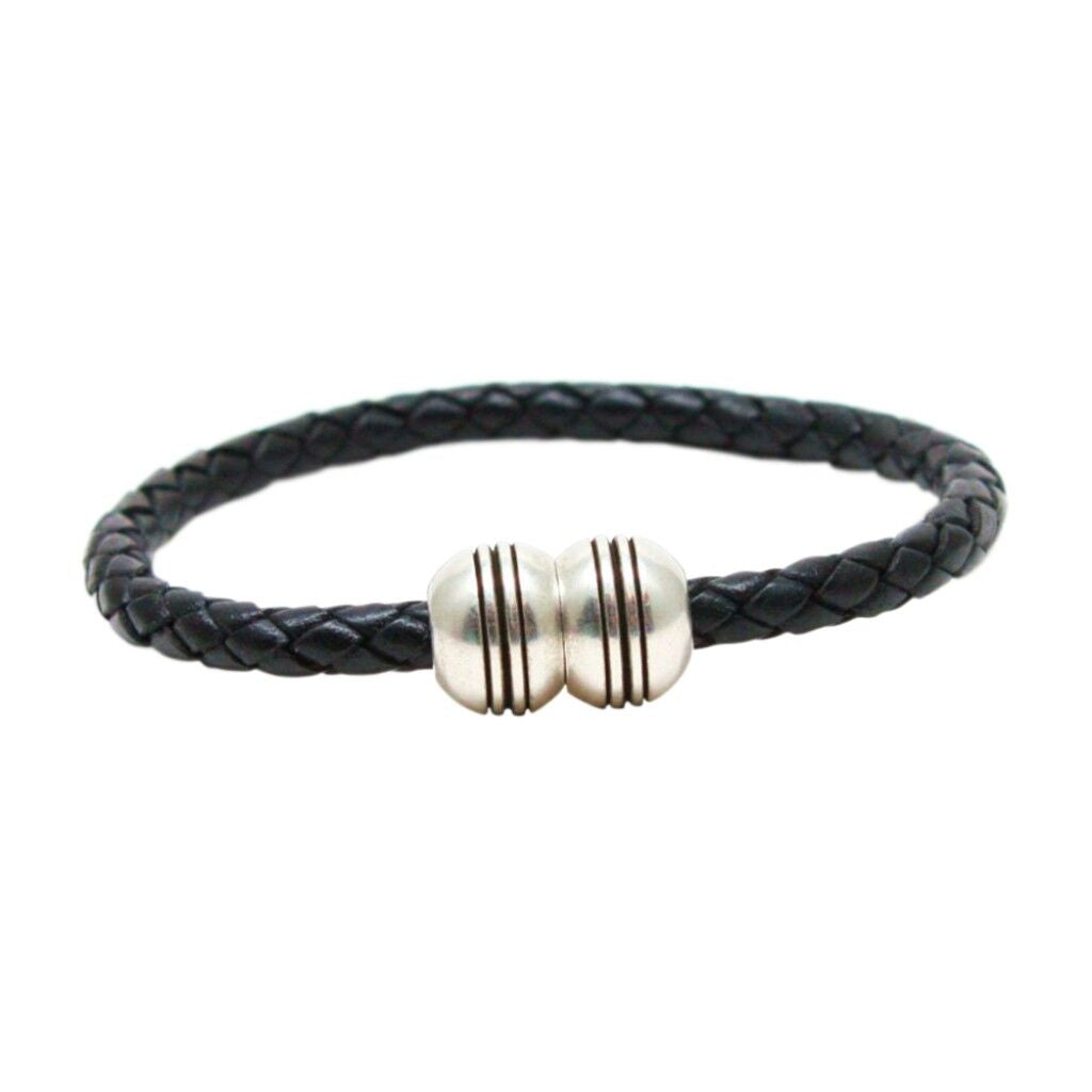 Torino Leather Co. Mens Thick Braided Leather Bracelet