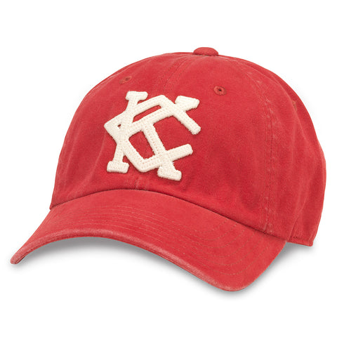 American Needle Archive Independent Baseball League Kansas City All Nations Dad Hat (44747A-KCAN-DKRD)