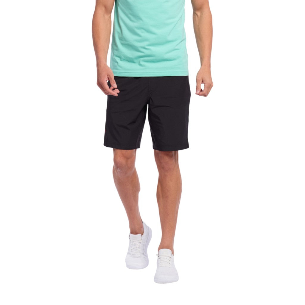 "Rhone Mens Mako 9"" Unlined Workout Athletic Performance Shorts - Black"
