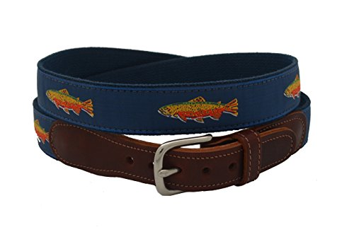 Epic Mens Rainbow Trout Ribbon Belt