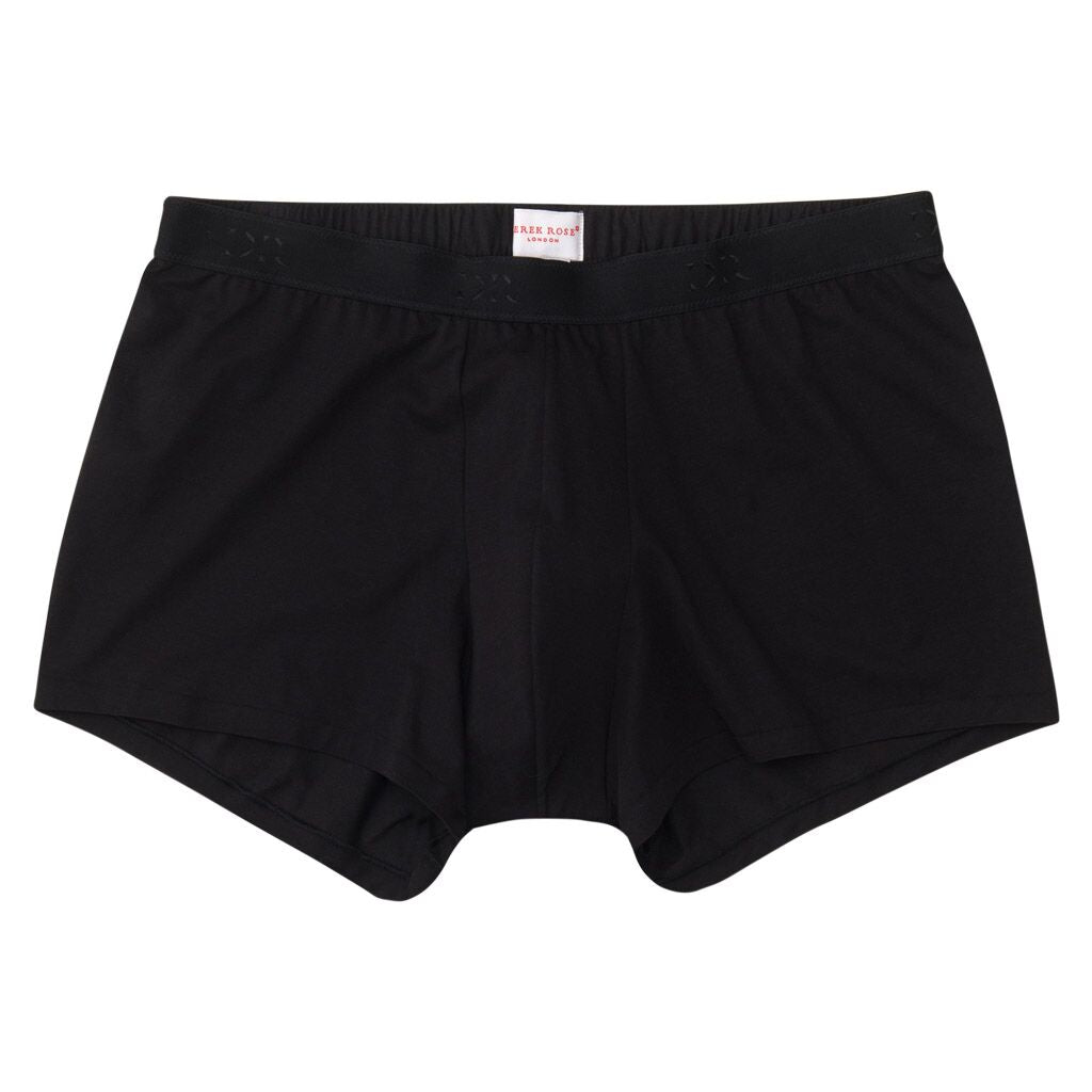 Derek Rose Men's Pima Cotton Stretch Hipster Underwear, Black
