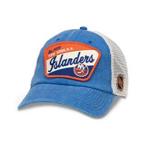 American Needle Ravenswood NHL Team Mesh Hat, New York Islanders, Ivory/Royal (43422A-NYI)