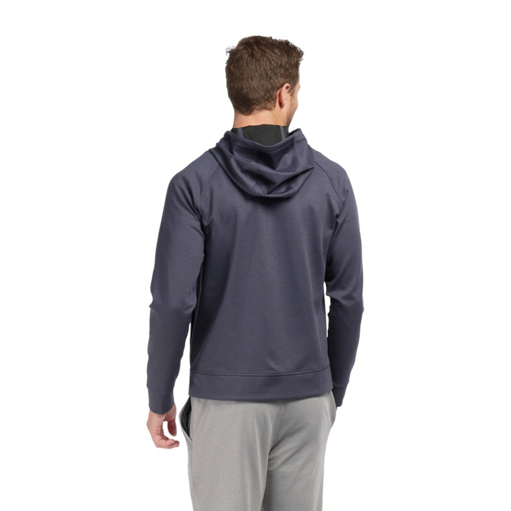 Rhone Mens Spar Tactel Full Zip Athletic Performance Hoodie Sweatshirt - Navy Heather