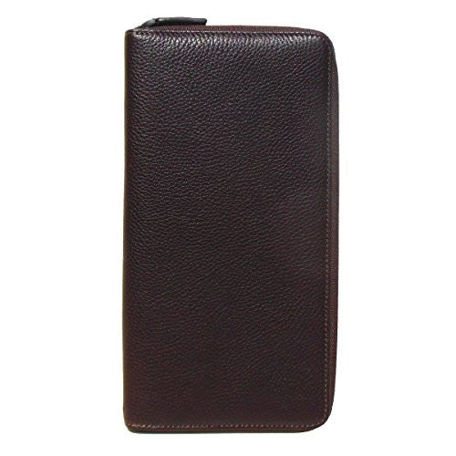 Boconi Men's Tyler Tumbled RFID Zip Traveler Wallet