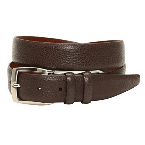 Torino Leather Soft Pebble Grain Calfskin Belt