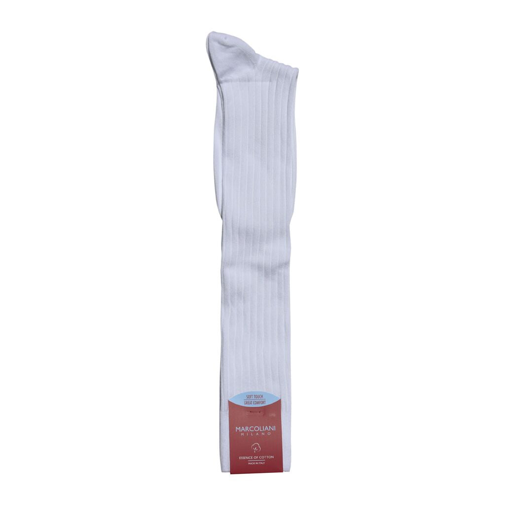 Marcoliani Milano The Dress Code Essence of Cotton Over the Calf Mens Socks