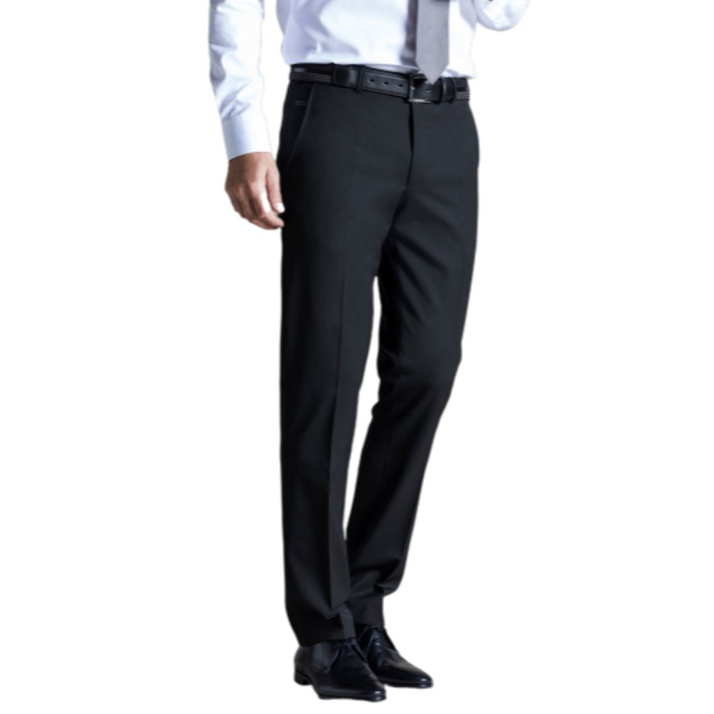 MEYER Men's 2500 Bonn Modern Flat Front Fit Trouser Pants