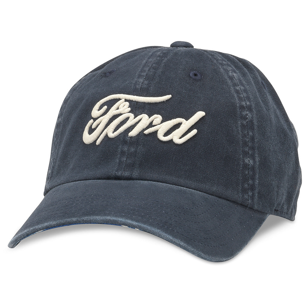 American Needle New Raglin Ford Baseball Dad Hat (FORD-1907A-NAVY)