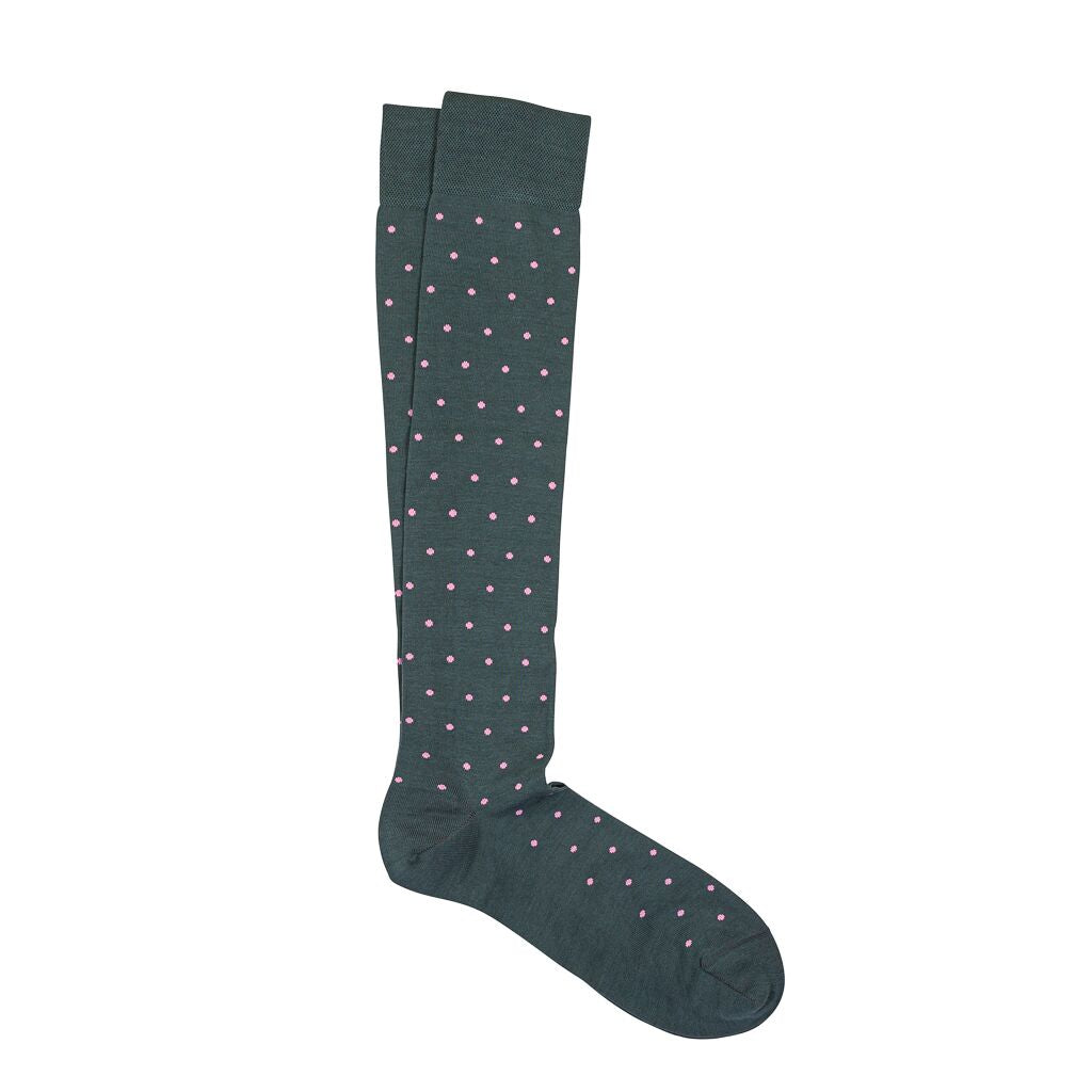 Marcoliani Milano Mens Over The Calf St. Tropez Pima Cotton Dress Socks
