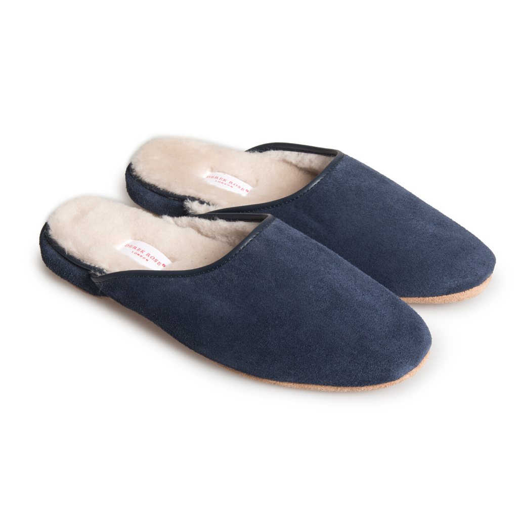 Derek Rose Men's Classic Sheepskin Mule Slipper