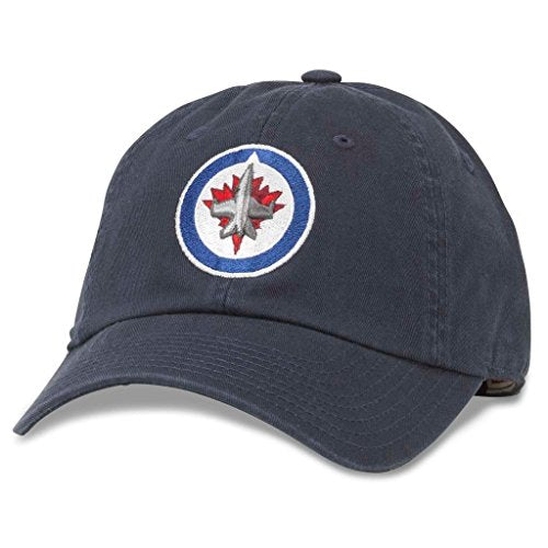 American Needle Blue Line NHL Team Dad Hat, Winnipeg Jets, Navy (40742A-WPJ)