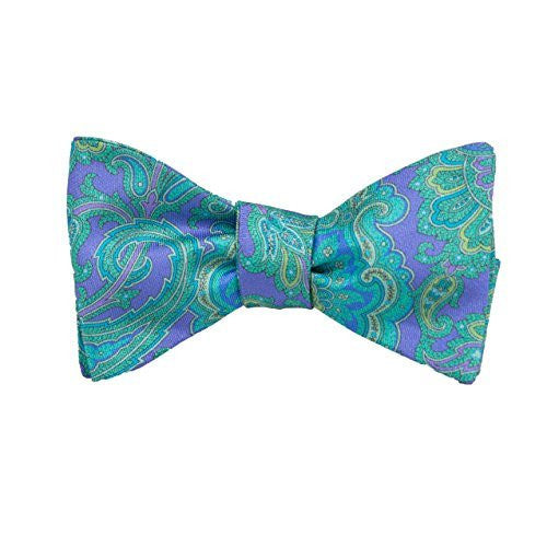 Peter-Blair Men's Purple Kendrick 100% Silk Bow Tie Handmade in USA (39KEP1BT)