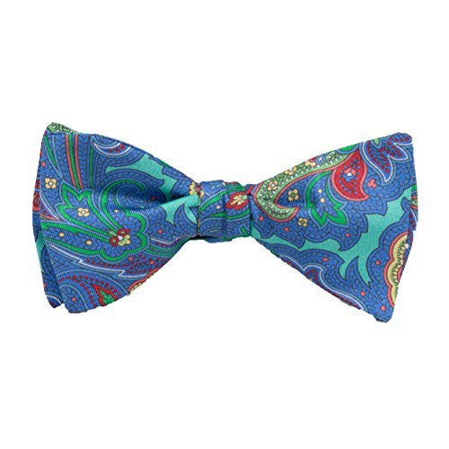 Peter-Blair Men's Aqua Gansvort 100% Silk Bow Tie Handmade in USA (39GAA4BT)
