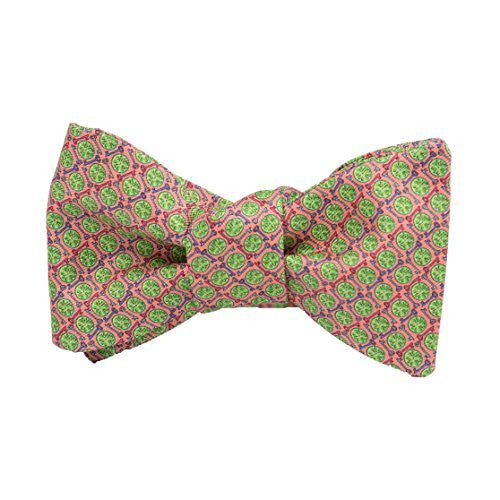 Peter-Blair Men's Coral Key Lime 100% Silk Bow Tie Handmade in USA (39KLC2BT)