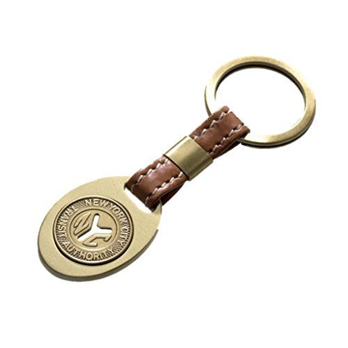 Tokens & Icons NY Subway Token Leather Key Ring