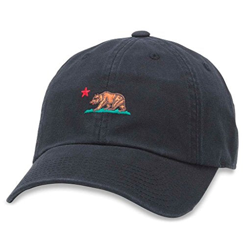 American Needle Micro Slouch Casual Baseball Dad Hat California Bear, Black (42920A-LITB-BLK)
