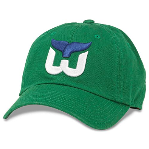 American Needle Blue Line NHL Team Dad Hat, Vintage Hartford Whalers, Kelly Green (40742A-HAW)