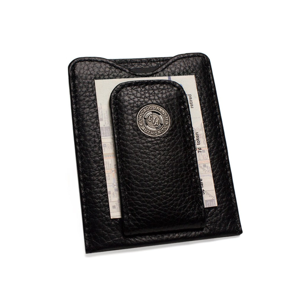 Tokens & Icons Chicago Transit Token Leather Money Clip Wallet