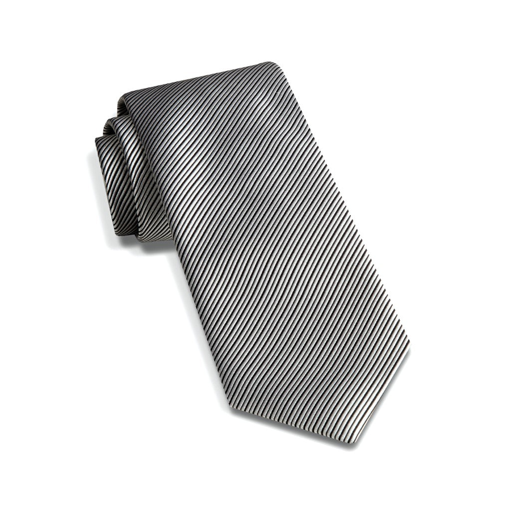 David Donahue Men's Twill Weave Italian Silk Neck Tie