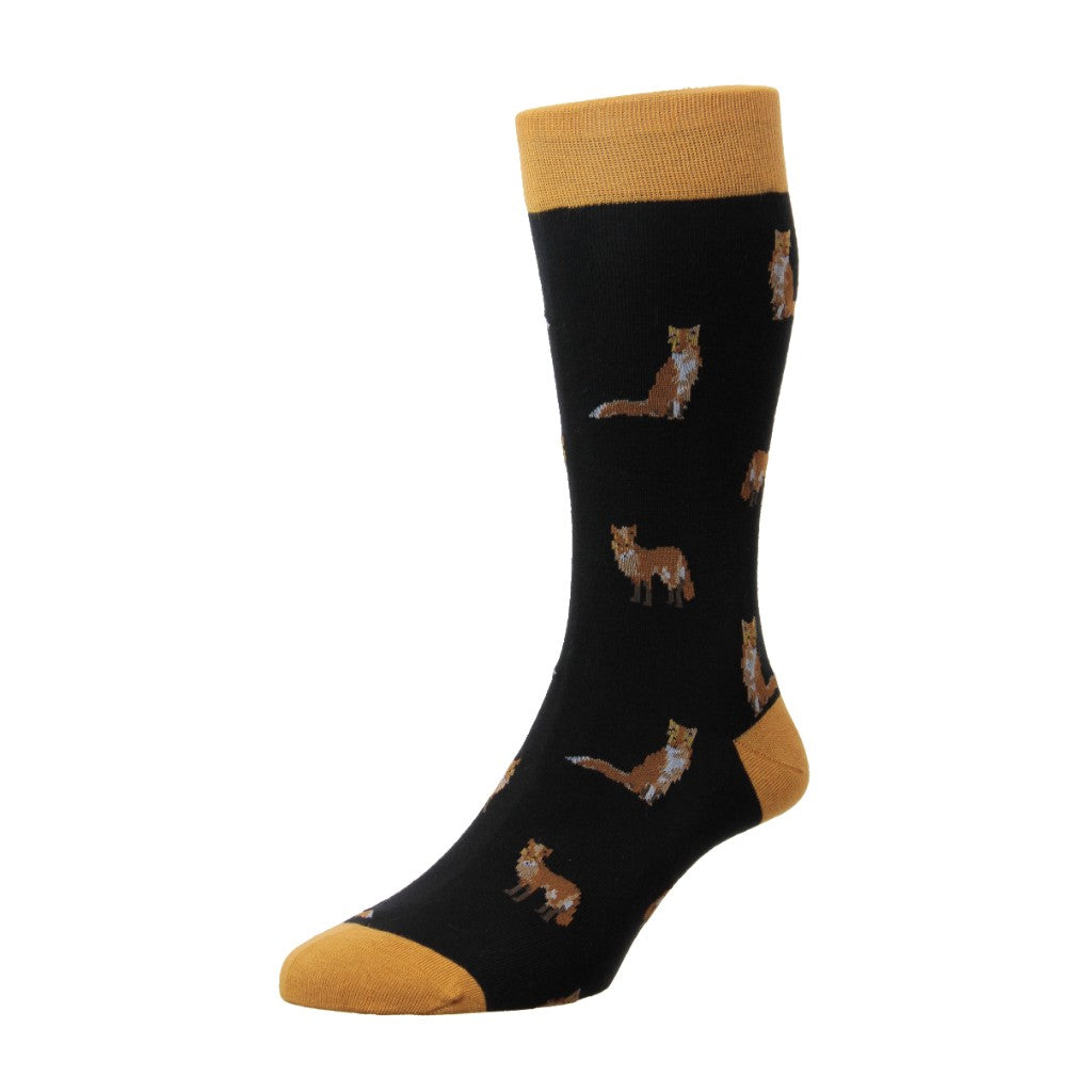 Scott Nichol Men's Farnley All Over Foxes Mid Calf Socks
