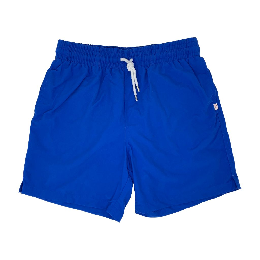 Derek Rose Mens Classic Fit Trunk Swim Shorts, Aruba 2 Blue