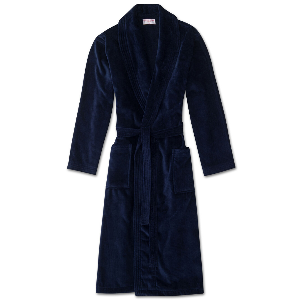 Derek Rose Men's Terry Cotton Velour Robe