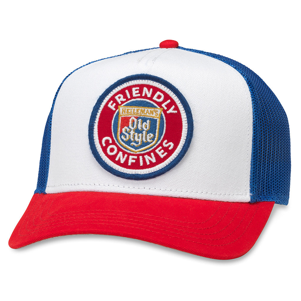 American Needle Valin Old Style Beer Friendly Confines Trucker Hat (PBC-1908C-RWRE)