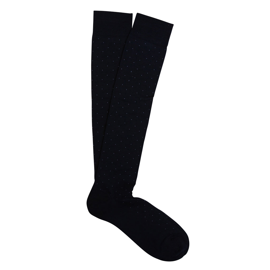 Marcoliani Milano Mens Over The Calf Pin Dot Pima Cotton Lisle Socks