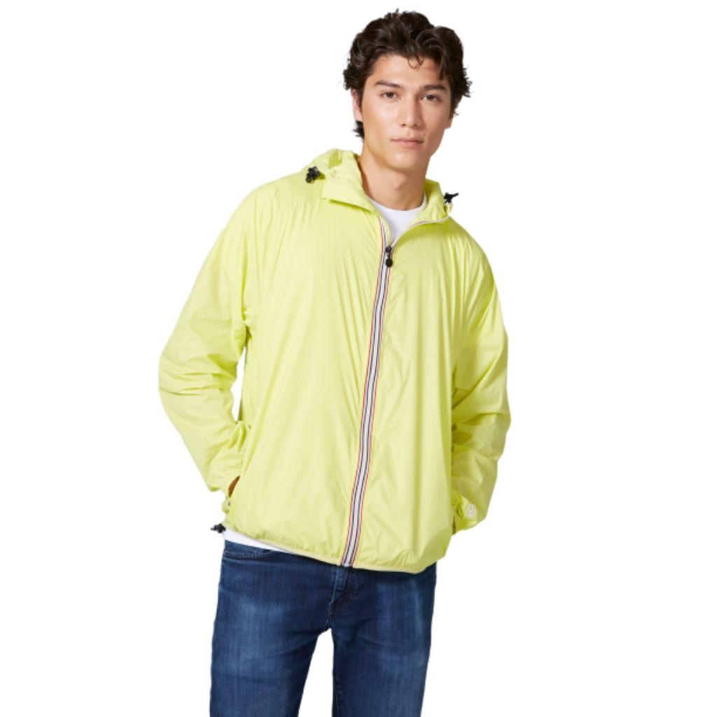 O8 Lifestyle Mens Solid Zip Up Packable Waterproof Windproof Rain Coat Jacket